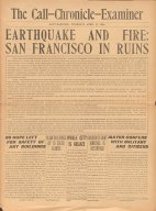 EARTHQUAKE AND FIRE: SAN FRANCISCO IN RUINS